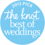 The Knot best of weddings award for 2012