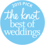 The Knot best of weddings award for 2015