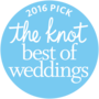 The Knot best of weddings award for 2016