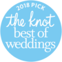 The Knot best of weddings award for 2018