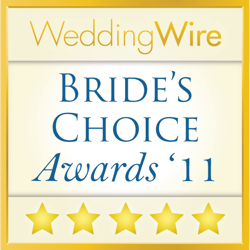Wedding Wire Couples Choice Award for 2011