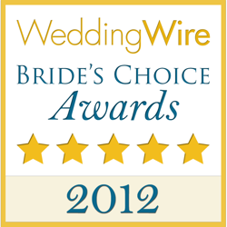 Wedding Wire Couples Choice Award for 2012