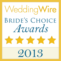 Wedding Wire Couples Choice Award for 2013