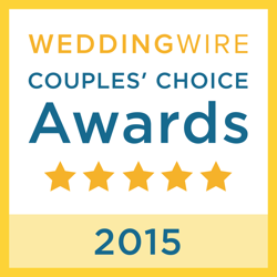 Wedding Wire Couples Choice Award for 2015