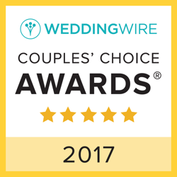 Wedding Wire Couples Choice Award for 2017