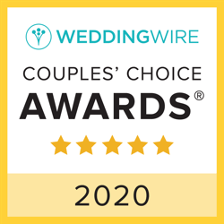 Wedding Wire Couples Choice Award for 2020